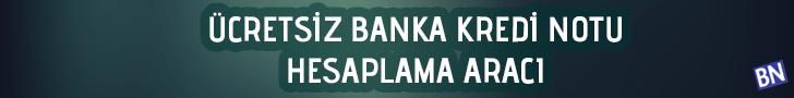 banka kredi notu hesaplama aracı