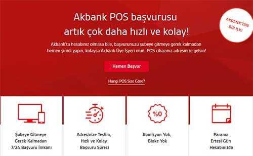akbank pos başvurusu