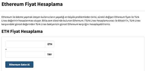 Ethereum-Fiyat-Hesaplama